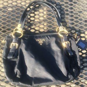 Authentic Prada Tessuto & Leather Bag